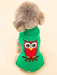 Cat Dog Coat Sweater Dog Clothes Party Casual/Daily Cosplay Keep Warm Wedding Halloween Christmas New Year's Animal Green Red