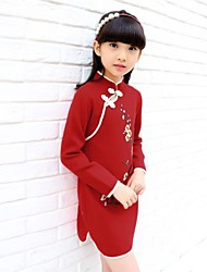2017 the latest girls autumn style Chinese wind cheongsam sweater