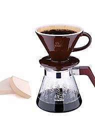 Coffee Machine Hand Wash Coffee Pot Set Home 4pcs Drop Drop Ceramic Filter Cup Cuttle Pot Share Combination Kit Entry Kit