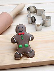 Chritsmas Gingerman Cookies Cutter Stainless Steel Biscuit Cake Mold Metal Kitchen Fondant Baking Tools
