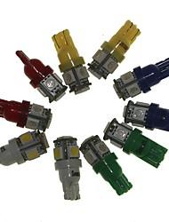 Sencart T10 BA9S 10pcs Car Indicators Bulb Light Lamp (White Red Yellow Blue Green 2pcs)DC12V