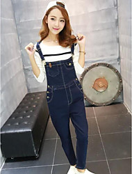 Women's Casual/Daily Jumpsuits,Simple Slim Solid Spring