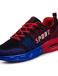 Men's Athletic Shoes Comfort Spring Fall Tulle Walking Shoes Casual Lace-up Flat Heel Orange Ruby Light Green Royal Blue 2in-2 3/4in