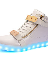 Women's Sneakers Comfort Light Up Shoes Spring Summer Fall Winter Leather Leatherette Walking Shoes Athletic Casual Outdoor LED Low Heel