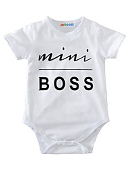Baby Print One-Pieces Cotton Summer Short Sleeve Mini Boss Romper Baby Boys Kids Clothes