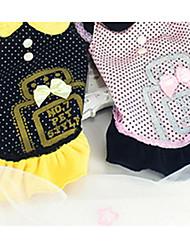 Chien Robe Vêtements pour Chien Décontracté / Quotidien Princesse Noir Rose