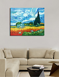 Hand-Painted Still Life Horizontal Panoramic,Classic & Timeless One Panel Canvas Oil Painting For Home Decoration