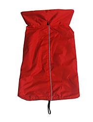 Собака Жилет Одежда для собак На каждый день Новый год Сплошной цвет Оранжевый Лиловый Желтый Пурпурный Красный