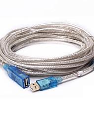 USB 2.0 Prolunga, USB 2.0 to USB 2.0 Prolunga Maschio/femmina 30,0 (90ft)