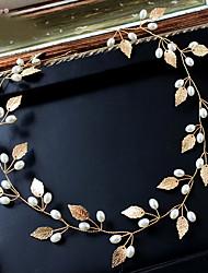 Imitation de perle Alliage Casque-Mariage Occasion spéciale Anniversaire Fête/Soirée Serre-tête Chaîne pour Cheveux 1 Pièce