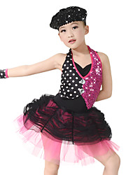 MiDee Ballet Dresses Children's Performance Spandex / Polyester / Organza / SequinedCrystals/Rhinestones / Paillettes / Pleated / Sequins /