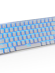 Ajazz AK33 Gaming Keyboard, 82 Classic Layout Keys, Transparent Blue Switch