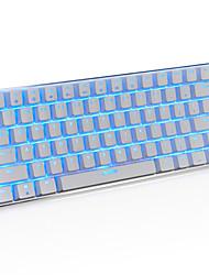 Игровая клавиатура ajazz ak33, 82 классических клавиш макета, прозрачный синий переключатель