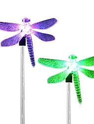 4шт нержавеющая сталь 1-led солнечный газон свет путь дорожный сад фонарь