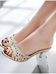 Women's Sandals Comfort Denim Summer Casual Comfort Silver Gold Flat