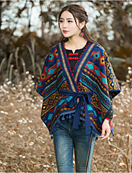 Women's Cotton Rectangle Striped Fall Winter
