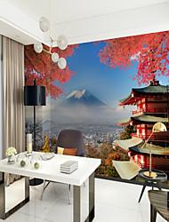 3D Clásico Vista de la ciudad Fondo de pantalla Para el hogar Moderno / Contemporáneo Oriental Revestimiento de pared , Lienzo Material