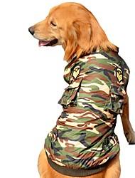 Собака Плащи Жилет Одежда для собак Для вечеринки На каждый день Сохраняет тепло Спорт Полиция/армия Камуфляж цвета