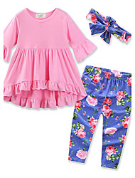 Girls' Printing SetsCotton Spring Fall Long Pant Dress Clothing Set baby lovely clothes