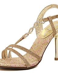 Damen Sandalen Komfort Pumps PU Sommer Normal Gold 7,5 - 9,5 cm