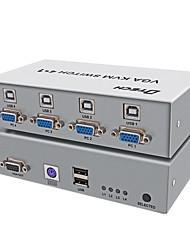 VGA USB 2.0 PS2 Interruptor, VGA USB 2.0 PS2 to VGA USB tipo B Interruptor Hembra - Hembra 1080P