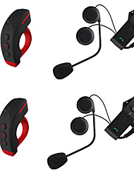 2Pcs Motorcycle V4.2 Bluetooth Headsets Ear hanging style Remote Control