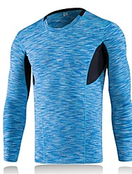 Men's Long Sleeves Breathability Lightweight Stretchy T-shirt Sweatshirt Top for Running/Jogging Cycling Exercise & Fitness Leisure