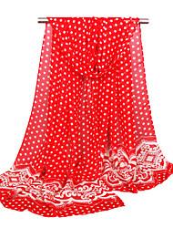 Women's Chiffon Fashion Cute Dots Print  Scarf  9 Colors 160*50cm