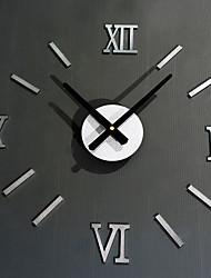 DIY Ultra Large Rome Digital Number Mute Wall Clock