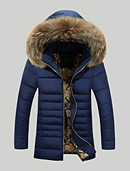 Manteau Rembourré Homme simple Chic de Rue Actif Sports Sortie Décontracté / Quotidien Grandes Tailles Couleur Pleine-Coton Polyester