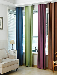 Curtain Modern/Comtemporary , Solid Living Room Material Blackout Curtains Drapes Home Decoration For Window