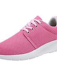 Femme Chaussures d'Athlétisme Confort Tulle Printemps Automne Athlétique Marche Lacet Talon Plat Noir Rose Plat