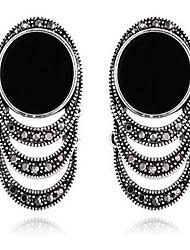 Жен. Серьги-слезки Стразы Мода По заказу покупателя Крупногабаритные Bling Bling Резина Круглой формы Бижутерия НазначениеДля вечеринок