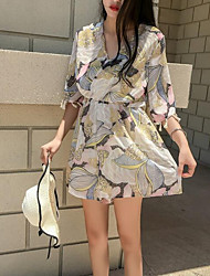 Women's Casual/Daily Rompers,Active Loose Floral Summer