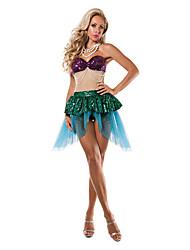 Disfraces de Cosplay Cola de Sirena Cuento de Hadas Cosplay Festival/Celebración Disfraces de Halloween Cosecha Faldas TopsHalloween