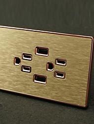 Enchufes electricos Acero Inoxidable Con cargador USB Outlet 12*7*4.4