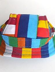 Кошка Собака Банданы и шляпы Аксессуары для шерсти Одежда для собак Для вечеринки ковбой На каждый день Спорт Рождество Полоски Радужный