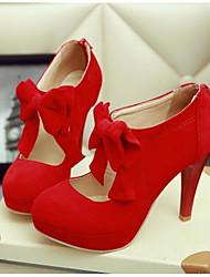 Damen Schuhe PU Sommer Komfort High Heels Mit Für Normal Schwarz Beige Rot