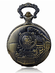 Mulheres Relógio de Bolso Quartzo Impermeável Lega Banda Bronze