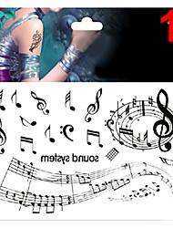 1 Tatuaggi adesivi Serie Messaggio Non Toxic Fantasia Glitter Fascia lombare Waterproof NataleNeonato Bambino Da donna Girl Da uomo