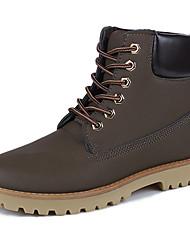 Для мужчин Ботинки Армейские ботинки Резина Весна Осень Для прогулок Шнуровка На плоской подошве Черный Желтый Коричневый Менее 2,5 см