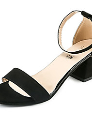 Women's Sandals Comfort Summer Cashmere Walking Shoes Casual Low Heel Black Gray 2in-2 3/4in
