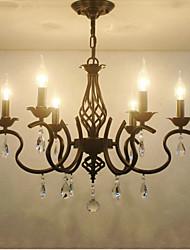 Европейский стиль хрустальные люстры гостиная столовая фары простые творческие свечи лампы и фонари новинка lightig