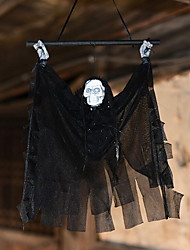 Halloween Induction Props Hawk House Electric Decorations Luminous Skeleton Hanging Head Small Spear