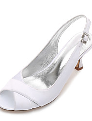 Women's Wedding Shoes Comfort Basic Pump Spring Summer Satin Wedding Dress Party & Evening Rhinestone Sparkling Glitter Split Joint Low