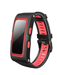 Homme Smart Watch Numérique Silikon Bande Noir Rouge