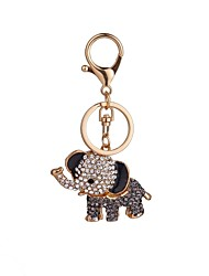The Elephant Modelling Alloy Key Chain The High Grade Of A Girl's Bag Decorated With Car Hang Decoration