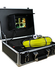 "Endoscope Pipeline Inspection System 7"" 30M Drain Sewer Waterproof Camera with 12 LED Lights"