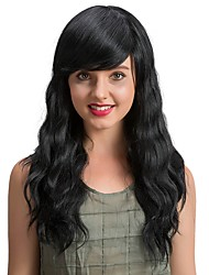 Eleganti e squisite parrucche lunghe nere di capelli per le donne