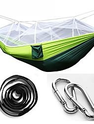 Mosquito Nacelle Hammock Parachute Cloth Field Camping Aerial Tents With High - Strength Chrysanthemum Rope With Swings